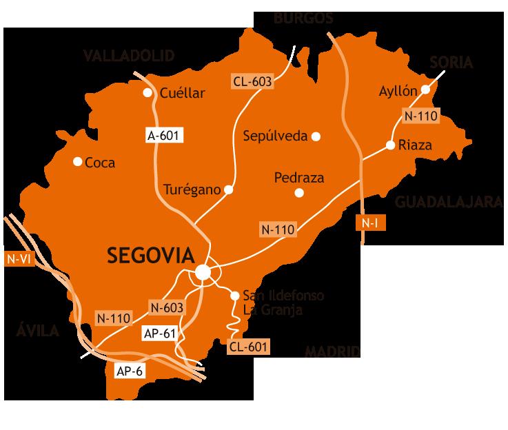 Pueblos De Segovia Mapa.La Provincia Leticia Te Guia Por Segovia
